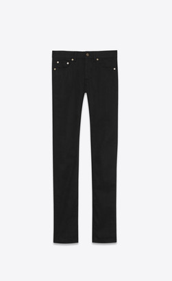 Saint Laurent Skinny Jeans In Used Black Stretch Denim Used Black 29