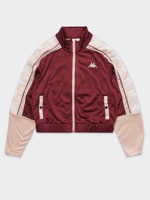 Kappa 222 Banda 10 Antey Jacket in Violet Pink White