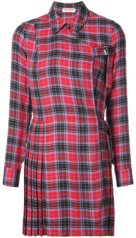 Opening Ceremony tartan shirt dress