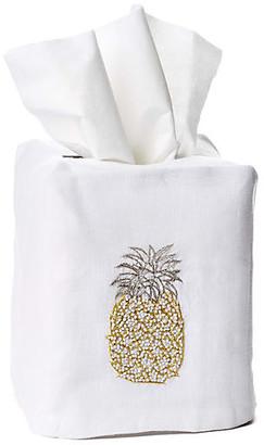 Hamburg House Pineapple Linen Tissue-Box Cover