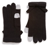 Kate Spade Women's Contrast Bow Tech Friendly Gloves