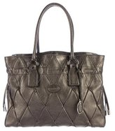 Tod's Metallic Quilted Leather Tote