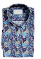 Bugatti Loose-Fit Floral-Print Short-Sleeve Dress Shirt