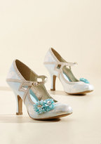 Charming Capers Mary Jane Heel in Bridal Blue in 36