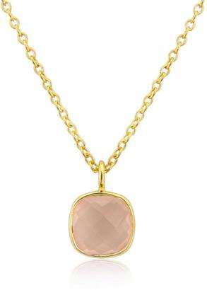 Auree Jewellery Brooklyn Gold Vermeil & Rose Quartz Necklace