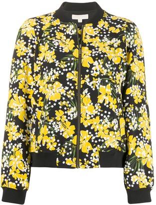 MICHAEL Michael Kors Floral Print Bomber Jacket