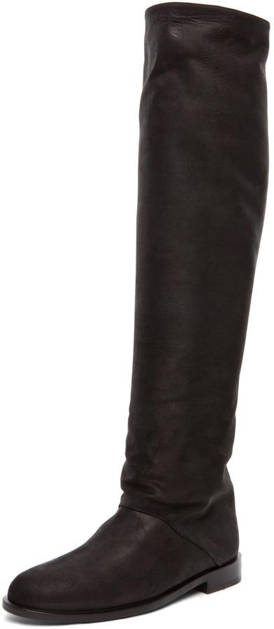 Pierre Hardy Flat Boot in Black