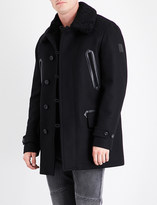 Belstaff Shearling collar wool-blend coat
