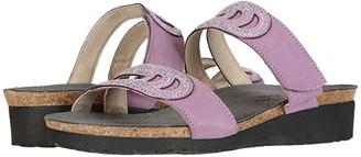 Naot Footwear Ainsley (Black Velvet Nubuck/Silver Rivets) Women's Shoes