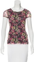 Jean Paul Gaultier Floral Print Short Sleeve Top