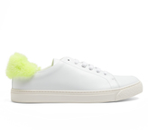 Anya Hindmarch Fur-trimmed low-top leather trainers