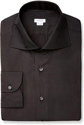 Orian Men's Medium Spread Collar Slim Fit Dress Shirt