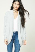 Forever 21 FOREVER 21+ Heathered Dolman Cardigan