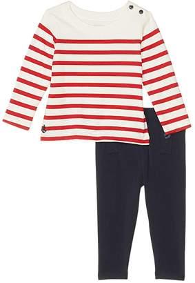 Polo Ralph Lauren Nautical Top Sailor Leggings (Infant)