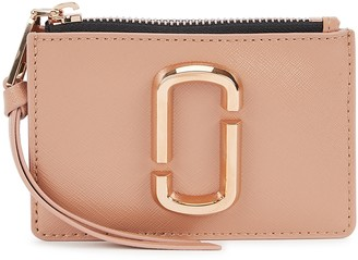 Marc Jacobs Snapshot DTM pink leather wallet