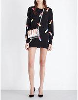 Moschino Capsule-print wool mini dress