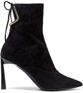 Lanvin Cutout Suede Ankle Boots
