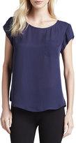 Joie Rancher Short-Sleeve Pocket Blouse