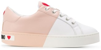 Love Moschino Colour-Block Leather Sneakers