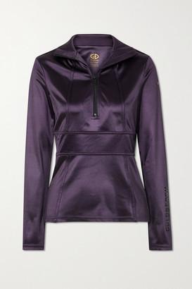 Goldbergh Melanie Stretch Satin-jersey Turtleneck Top - Purple