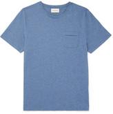 Oliver Spencer Envelope Mélange Cotton-jersey T-shirt - Blue