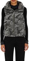 VIS A VIS Women's Camouflage-Print Felt Puffer Vest-GREY