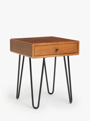 John Lewis & Partners Hairpin Side Table, Dark Oak