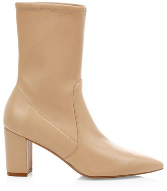 Stuart Weitzman Landry Leather Sock Boots