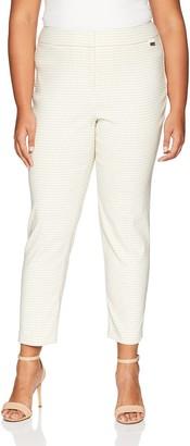 Calvin Klein Women's Plus Size Gingham Lux Pant