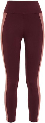 Ernest Leoty Therese Cropped Two-tone Stretch Leggings