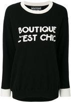 Moschino intarsia slogan jumper - women - Cashmere/Virgin Wool - XS