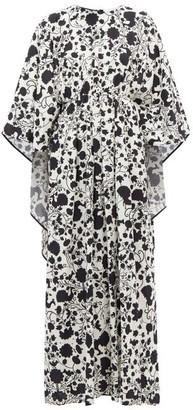 La DoubleJ Circe Himsez-print Maxi Kaftan Dress - Black White