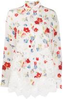 Ermanno Scervino floral-print combined shirt