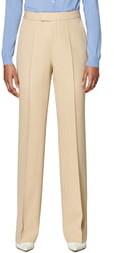 SUISTUDIO Ally Pintuck Seam Wool Trousers