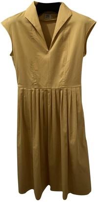 Siyu Yellow Cotton Dress for Women