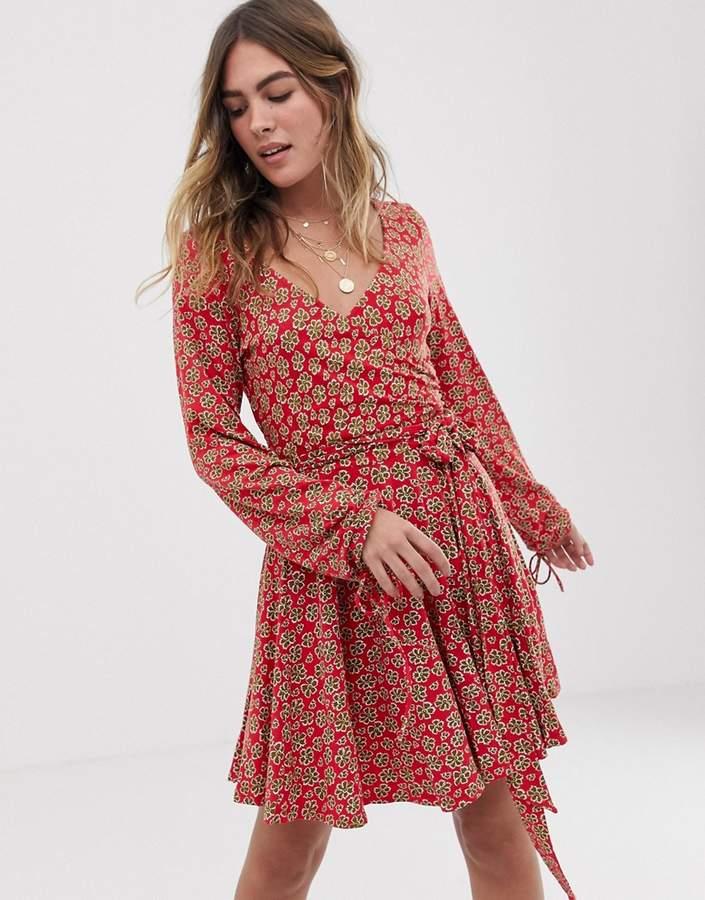 014d2e519548 Free People Red Print Jersey Dresses - ShopStyle Australia