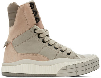 Chloé Pink and Beige Clint High-Top Sneakers