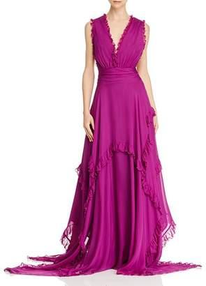AMUR Ursula Silk Sleeveless Maxi Dress