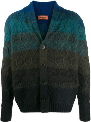 Missoni striped cable knit cardigan