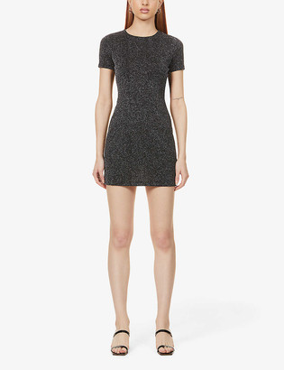 Reformation Amina fitted stretch-woven mini dress