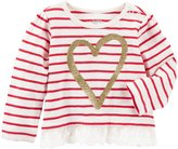 Osh Kosh Stripe Heart Print Top - Stripe - 6M - 6 Months