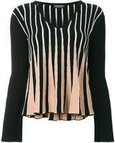 Twin-Set v-neck striped jumper
