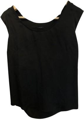 Ikks Black Silk Top for Women