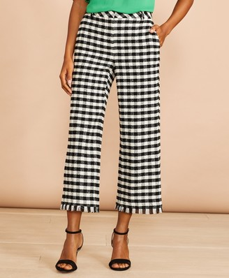 Brooks Brothers Gingham Boucle Cropped Pants