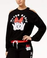 Disney Juniors' Never Basic Minnie Mouse Cold-Shoulder Sweatshirt