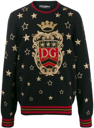 Dolce & Gabbana Star embroidered jumper