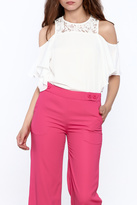 Do & Be White Cold Shoulder Top