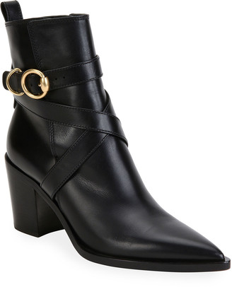 Gianvito Rossi Pointed-Toe Ankle Booties