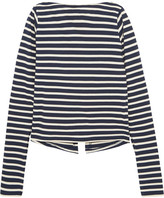 Jacquemus La Marinière Open-back Striped Cotton-jersey Top - Navy