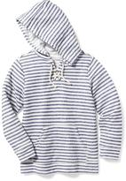Old Navy French-Terry Lace-Up Hoodie for Girls